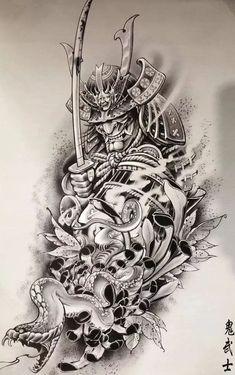C Tattoo, Japan Tattoo, Japanese Tattoo Designs, Samurai Tattoo, Asian Design, Asian Art, Black And Grey, Geisha, Color