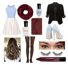 """""""Hazel's Amsterdam Fancy Dinner Outfit"""" by ashlyncasey on Polyvore featuring Fogal, TOMS, Dorothy Perkins, Deborah Lippmann, Benefit, Sephora Collection, The Limited and Dee Keller"""