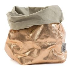 Uashmama Paper Bag Gigante Metallic Rose Gold