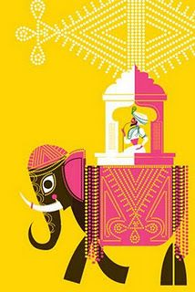 Elephant ride illustration by Sanjay Patel.