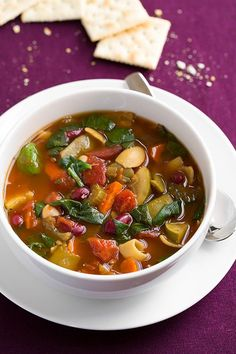 Slow Cooker Olive Garden Minestrone Soup