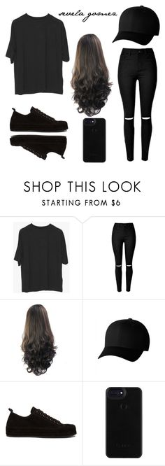 """Sneak out"" by sequiagomez ❤ liked on Polyvore featuring Flexfit and Ann Demeulemeester"