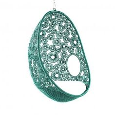 Hanging Pod Chair Zara - Turquoise  Pod Chair from Equator Homewares.