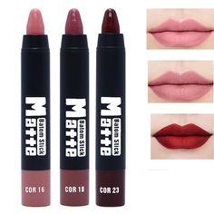 LEARNEVER Matte Nude Lipstick Pencil Makeup Matte Lip Kit Lipstick Long Lasting Waterproof