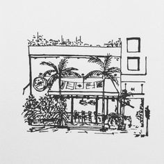 Miami.  #sketch #sketching #sketchbook #draw #drawing #ink #pen #illustrate #illustrator #illustration #illustrations #artsy #art #artwork #artist #artistic #miami #usa #black #white