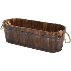 Wooden Trough - 45 x 23cm
