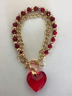 Zipper Jewelry, Red Jewelry, Bead Jewellery, Heart Jewelry, Cute Jewelry, Beaded Jewelry, Jewelery, Jewelry Bracelets, Fashion Jewelry