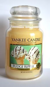 Bougie Grande Jarre YANKEE CANDLE * FUDGE RIPPLE * Large Jar Exclu US