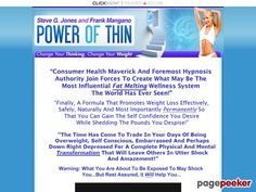 (adsbygoogle = window.adsbygoogle || []).push();     (adsbygoogle = window.adsbygoogle || []).push();  Power of Thin :: Steve G. Jones & Frank Mangano    http://www.powerofthin.com/index.html review     (adsbygoogle = window.adsbygoogle || []).push();  Steve G. Jones And...