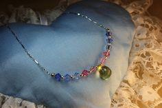 Rainbow necklace. Lemon quartz briolette. Handmade by Goldsmith Sanna Hytönen, Finland. http://www.kultaseppasannahytonen.com/
