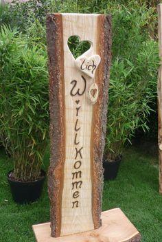 Schild für den Eingangsbereich in xxl...♥lich Willkommen ♥ Türschild ♥ von Holz- Kreativ auf DaWanda.com