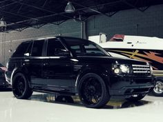 blacked out Range Rover. dream whip
