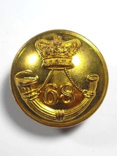 68th (Durham) Regiment of Foot Large Victorian Officers Button.