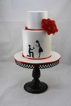 A surprise engagement cake made for a very dear friend