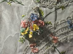 Closeup of the details on XVIII century gown