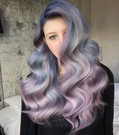 Hair Color Trends 2018 Highlights : Lost in your eyes by Guy Tang Purple Hair, Ombre Hair, Wavy Hair, Guy Tang Hair, Dyed Hair Pastel, Balayage Ombré, Corte Y Color, Coloured Hair, Hair Color Dark