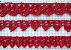Free patterns for Crochet Edgings