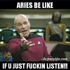 Aries be like...