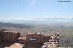 Vistas de la Meseta donde se libraron muchas batallas por ser frontera de Al-Andalus.