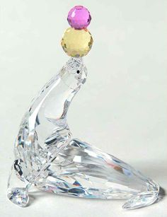 Swarovski CRYSTAL FIGURINE Playing Seal 5951447 5951447