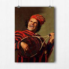 Le joueur de Cordes - Affiche vintage - Roger Federer - Poster - Tableau - A3