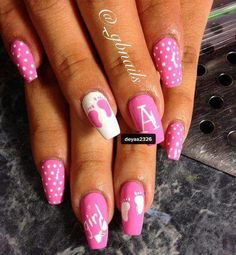 Baby girl nails oh baby pinterest baby girl nails girls its a girl nail art prinsesfo Images