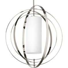 """Home depot $627 28""""- less at westway electric Equinox Collection 1-light Polished Nickel Pendant also available in 16"""""""
