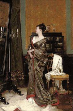 Jan Francois Verhas - The kimono