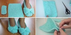 Easiest Slippers to Make – Crochet or Knit Let's take a look at one of the easiest ways to make a slippers. It is hard to label this tutorial as a crochet or knitting one. In reality all you …Easiest Slippers to Make – Crochet or Knit. Easy Crochet Slippers, Crochet Shoes, Knit Crochet, Flower Crochet, Crochet Jacket, Crochet Granny, Knitting Designs, Knitting Patterns, Crochet Slippers
