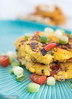 Travel Bites: Cornmeal Pancakes   Savory & Sweet! Full recipe and SO easy to make!