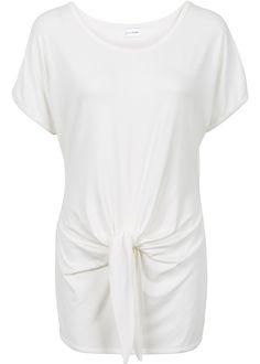 Knoten-Shirt, BODYFLIRT, wollweiß