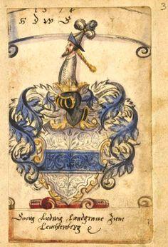 «Stamm- und Wappenbuch des Freiherrn Wolfgang Leonhard Unverzagt von Ebenfurth und Petronell/NÖ», [S.l.] Süddeutschland, 1574-1637 [BSB Cod.icon. 326 b - urn:nbn:de:bvb:12-bsb00010513-7] -- f°3r