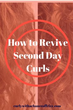 How to Revive Second Day Curls- Wake up in the morning after you wash your hair and it is absolutely full of frizz? Let me help you with that! Here is a Second Hair Day Fix Recipe I made to fix your curly problem!
