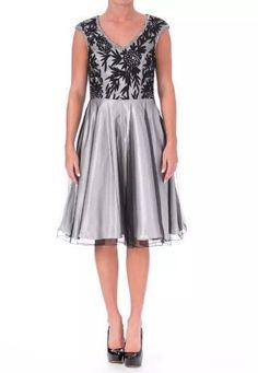 abd6c8f0283 SUE WONG Black   Ivory Mesh Embellished Party Dress Size 6  549.00 NWT