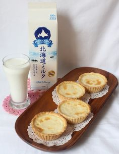 My baking experiment continues with Hokkaido Fresh Milk.of course. That luscious dairy is just calling out to me to try out more bakes w. Custard Recipes, Tart Recipes, Dessert Recipes, Yummy Recipes, Breakfast Recipes, Sushi Recipes, Pastry Recipes, Simple Recipes, Breakfast Ideas