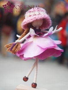 Mistyrose Pink Petal Doll No face doll Flower by OrientalColour, $12.50