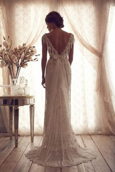 High Quality 2014 Vintage Wedding Dresses Sheer Lace Bridal Gowns Lace Backless Church Wedding Custom CH-753