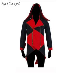Assassins Creed Cosplay Costume Man Jacket Conner Kenway Coat Plus Size White Black Red Blue Jacket With Hat Show Clothes #Affiliate