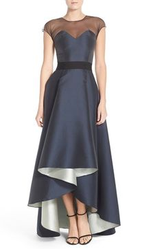 Sachin & Babi Noir 'Lisa' Imago High/Low Ballgown available at #Nordstrom