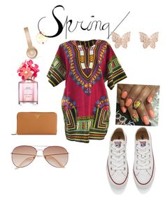 """""""Spring """" by esosaqueensosa ❤ liked on Polyvore featuring Prada, Converse, Marc Jacobs, Latelita, H&M and Beats by Dr. Dre"""