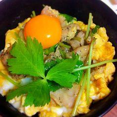 若鶏のハラミを使ってプリプリ感アップ! - 68件のもぐもぐ - 親子丼 by yutaToT