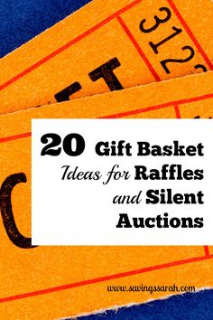 Helping with a school, church, or community fundraiser? Check out these 20 Easy Gift Basket Ideas for Raffles and Silent Auctions.