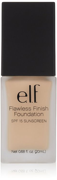 e.l.f. Studio flawless finish foundation porcelain SPF 15 , 0.68 Ounce => Awesome product. Click the image : Travel Makeup