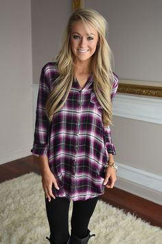 Purple Plaid Button Down – The Pulse Boutique