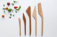 5 piece wood utensil set | Stephane Hubert Design | Madesmith