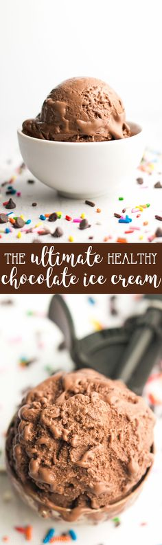 The ULTIMATE Healthy Chocolate Ice Cream -- just 85 calories! It tastes so rich & like it came from a fancy ice cream parlor, not healthy at all! SO easy to make & of protein too! Chocolate Protein, Mint Chocolate Chips, Chocolate Ice Cream, Chocolate Recipes, Low Calorie Ice Cream, Protein Ice Cream, Healthy Ice Cream, Protein Bars, Frozen Desserts