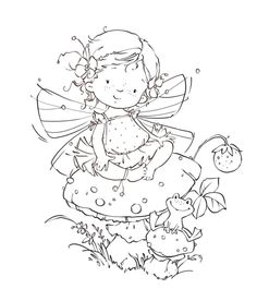 Free & Easy To Print Fairy Coloring Pages - Tulamama Fairy Coloring Pages, Adult Coloring Pages, Coloring Books, Whimsy Stamps, Copics, Digital Stamps, Free Coloring, Colorful Pictures, Sketches