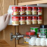 Features:  -Organizes the spices in minutes and instantly helps in finding what is needed without rearranging.  -Any layout variation up to 20 small or 10 large spices per organizer page.  -Organizer