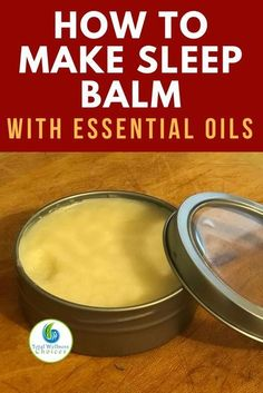 Sleep balm diy recipe with essential oils for those struggling with insomnia! #sleepbalm #essentialoildiy #insomnia #naturalsleepremedy