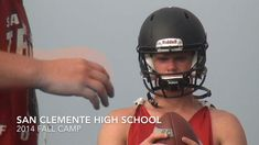 On today's Throwback Thursday, we go to 2014 when Carolina Panthers QB Sam Darnold and the San Clemente Tritons in Southern California were opening fall camp. Darnold spoke with High School Football America co-founder Jeff Fisher about his recent appearance at the Elite 11 quarterback competition. Jeff Fisher, Football America, Start High School, High School Football, San Clemente, On Today, Carolina Panthers, Football Helmets, Throwback Thursday